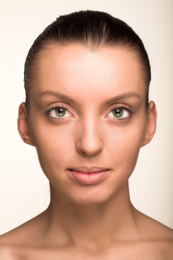 Mooi vrouwengezicht royalty-vrije stock foto's