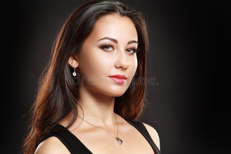 Mooi vrouwenportret royalty-vrije stock afbeelding