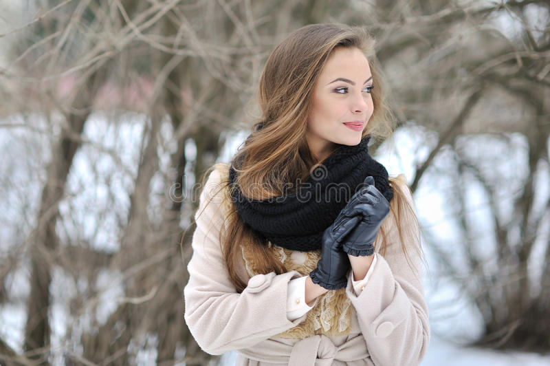 Mooi vrouwenprofiel - sluit omhoog portret royalty-vrije stock fotografie