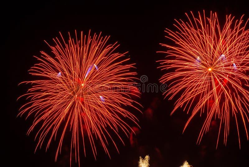 Mooi vuurwerk royalty-vrije stock foto's