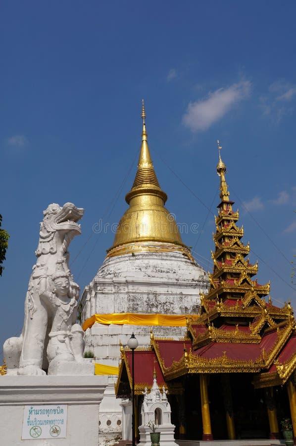 Mooi Wat Phra Kaew Don Tao, Lampang, Thailand stock foto