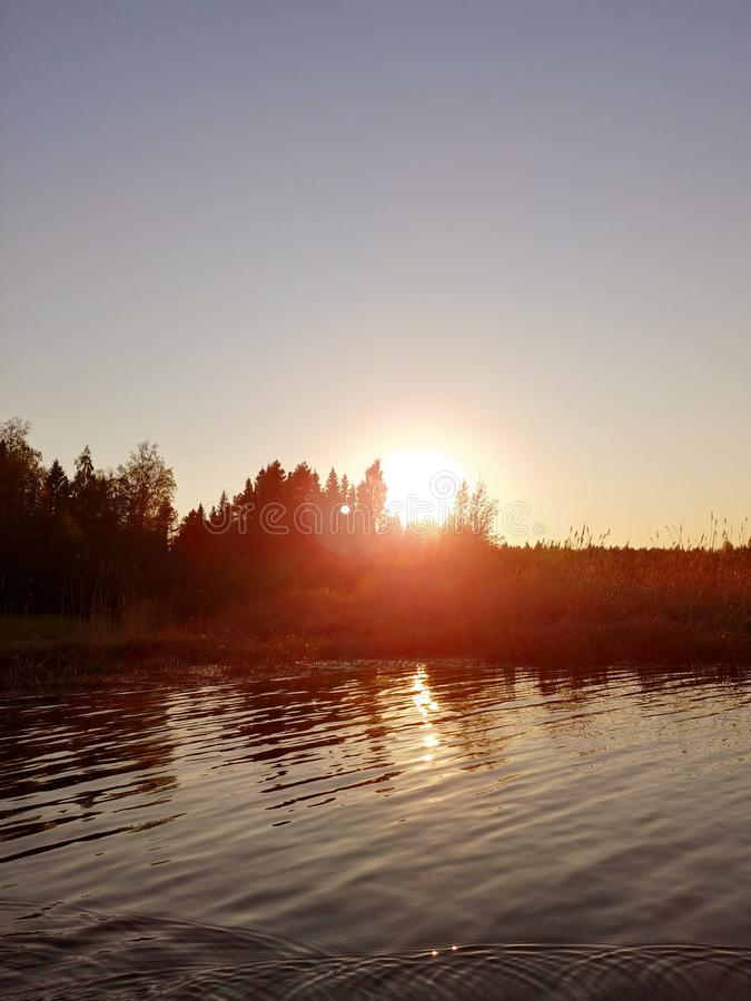 Mooi waterlandschap royalty-vrije stock fotografie