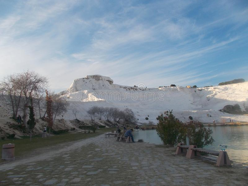 Mooi Weergeven van Pamukkale Hierapolis stock fotografie