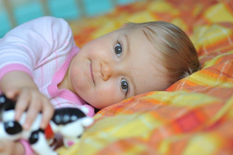 Mooi weinig baby royalty-vrije stock afbeelding