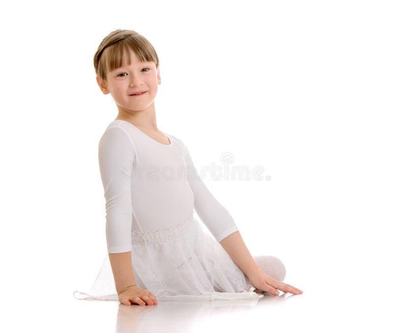 Mooi weinig ballerina royalty-vrije stock afbeelding