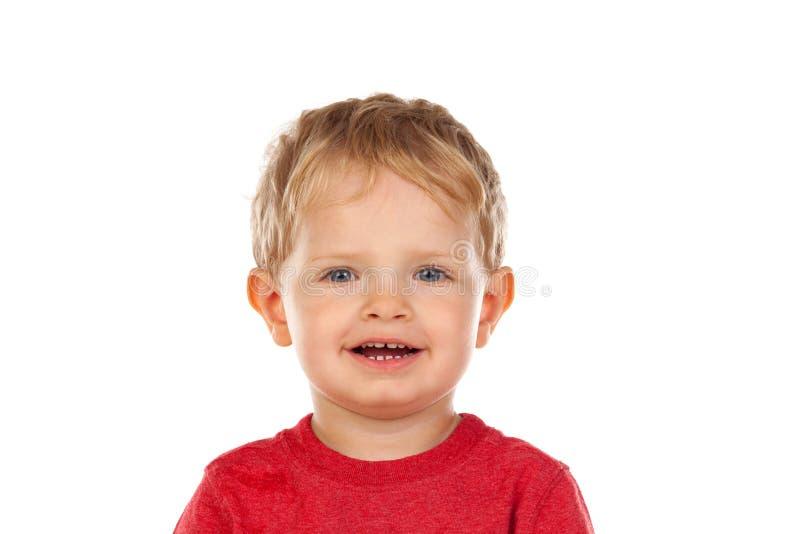 Mooi weinig kind twee jaar het oude lachen stock fotografie
