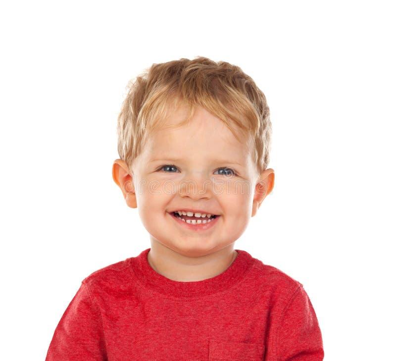 Mooi weinig kind twee jaar het oude lachen stock foto's