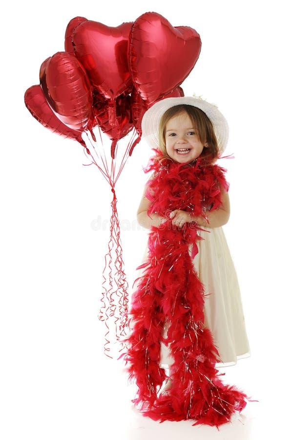 Mooi Weinig Meisje van de Valentijnskaart stock fotografie
