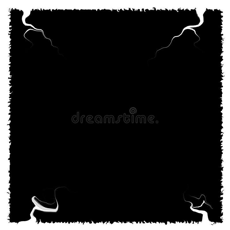 Mooi wit kader met boegen Zwarte binnen royalty-vrije illustratie