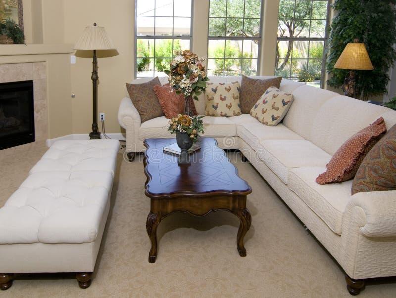 Mooi woonkamer binnenlands ontwerp stock foto's