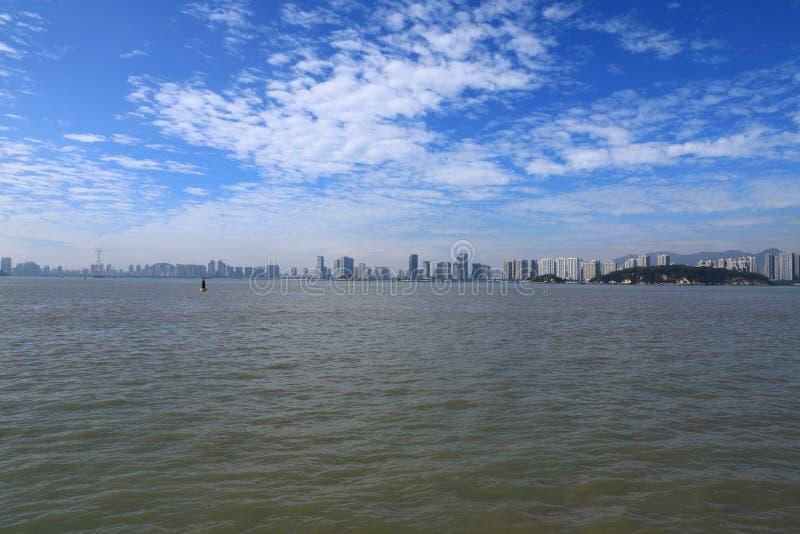 Mooi xiamen horizonlandschap van Fujian-Provincie royalty-vrije stock afbeelding