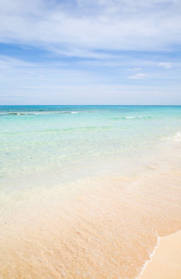 Mooi zandig strand stock foto