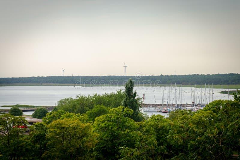 Mooi zie landschap in Saaremaa, Estland royalty-vrije stock afbeelding