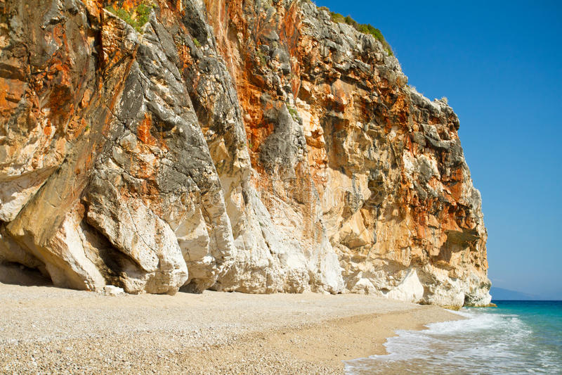 Mooi zonnig strand stock fotografie