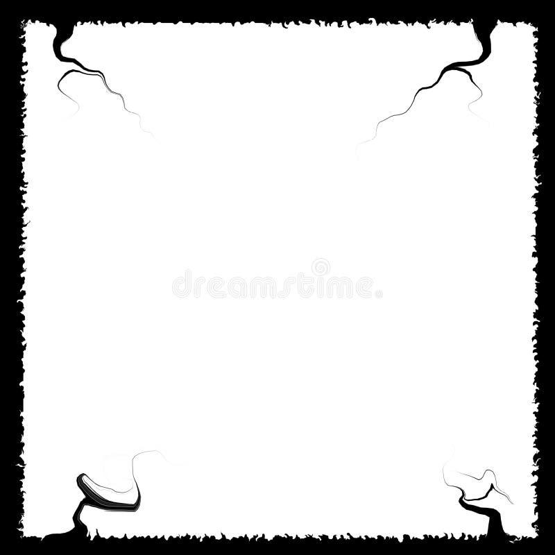 Mooi zwart kader met boegen Witte binnen stock illustratie
