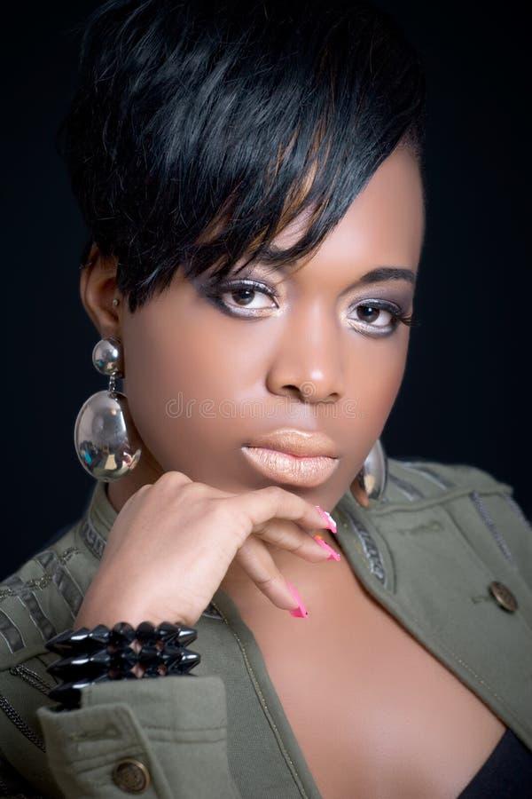 Mooi zwart meisje royalty-vrije stock fotografie