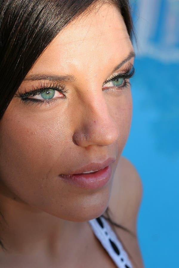 Mooi zwempakmodel stock foto's