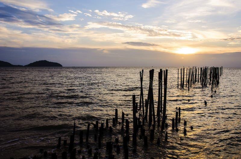 Mooie aard met kleur van zonsopgang stock foto's