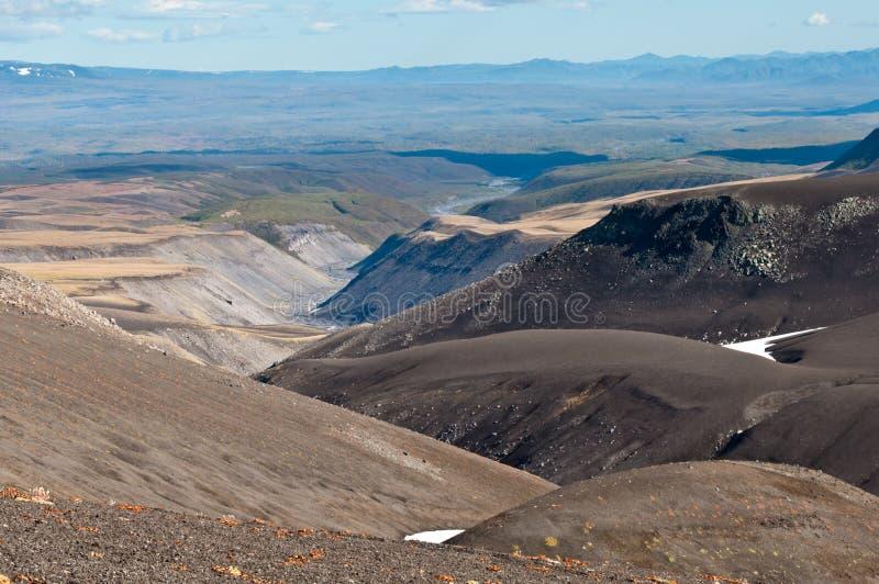 Mooie aard van het Schiereiland van Kamchatka royalty-vrije stock afbeelding
