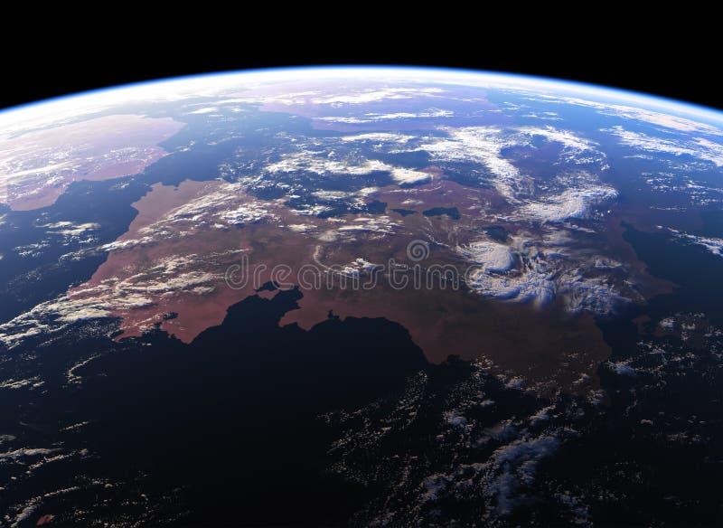 Mooie Aarde Mening van ruimte NASA-gebruikte niet beelden vector illustratie