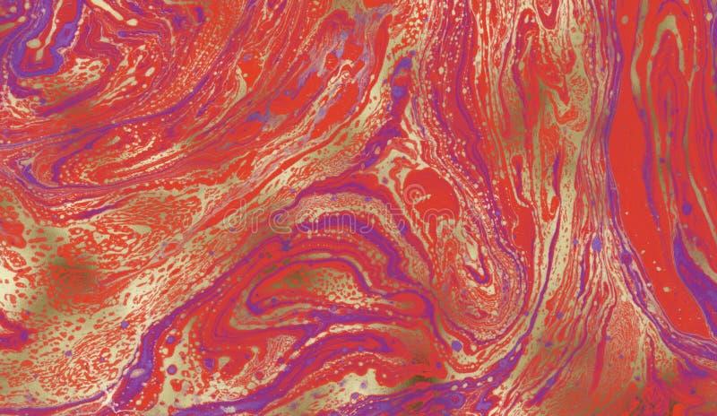 Mooie abstracte achtergrond Marmerdocument Kleurrijke inkt royalty-vrije stock foto