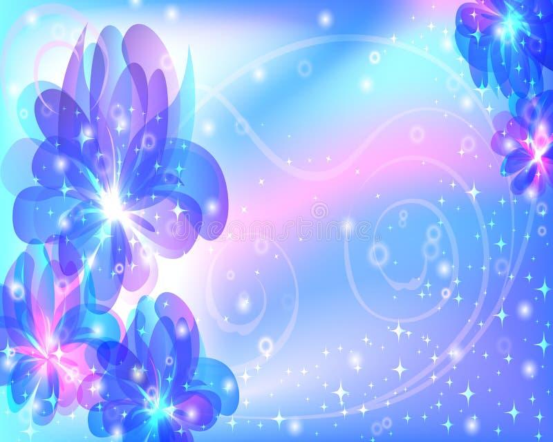 Mooie abstracte achtergrond met bloemen vector illustratie