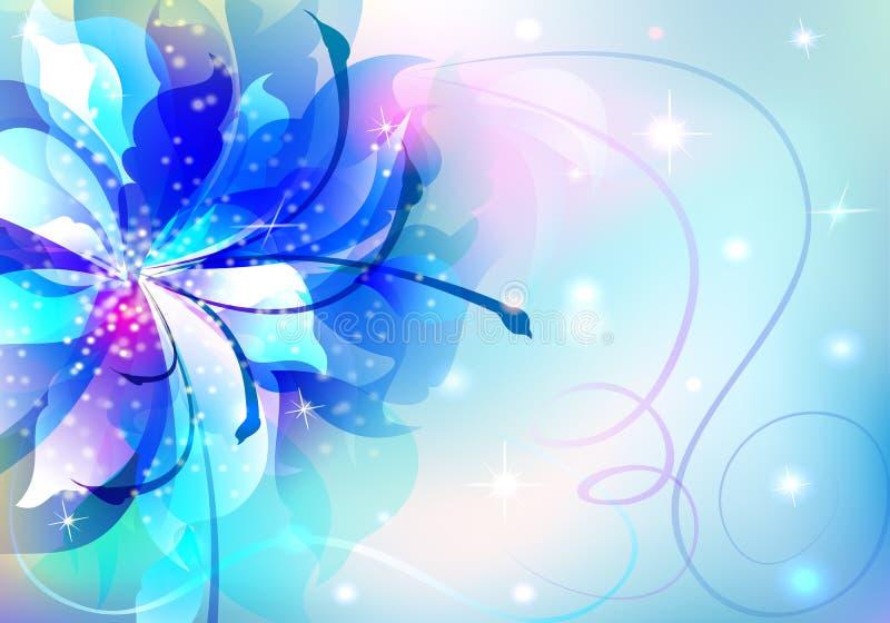 Mooie abstracte achtergrond met bloemen royalty-vrije illustratie
