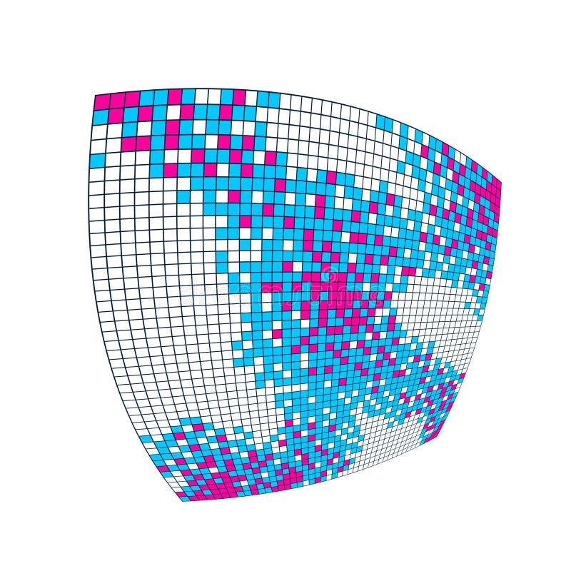 Mooie abstracte 3d vectormozaïekachtergrond, artistieke geometrische illustratie als malplaatje voor uw lay-out met exemplaarruim royalty-vrije illustratie