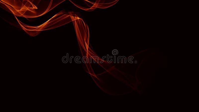 Mooie abstracte golflijnen op de donkere gradiëntachtergrond royalty-vrije stock fotografie