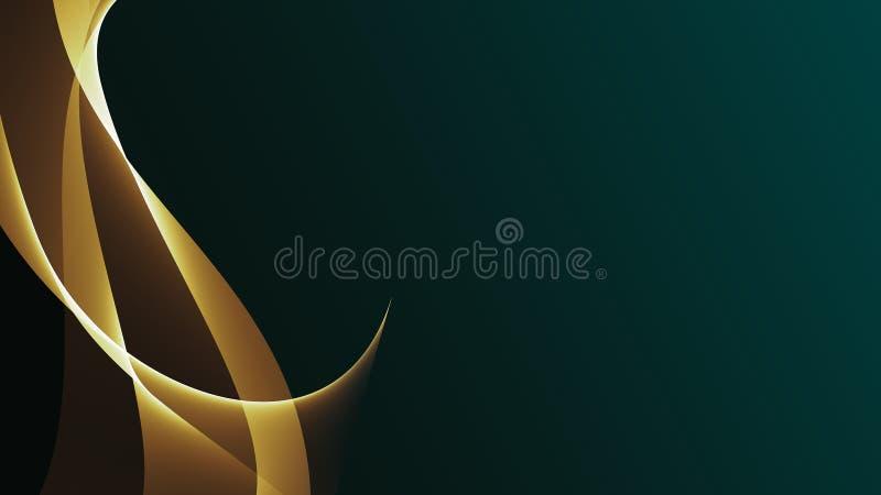 Mooie abstracte golflijnen op de donkere gradiëntachtergrond stock fotografie
