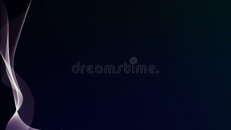 Mooie abstracte golflijnen op de donkere gradiëntachtergrond royalty-vrije stock afbeeldingen
