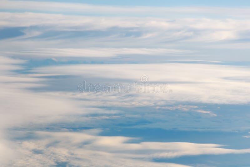 Mooie abstracte hemeltoon vage achtergrond, blauw wit roze patroon royalty-vrije stock foto's