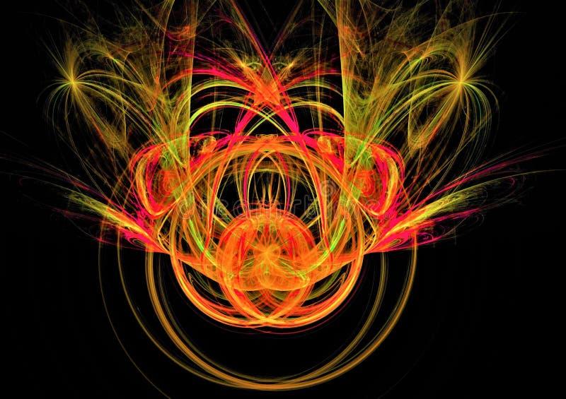 Mooie abstracte ruimtefractal van het fonkelingsontwerp samenstelling royalty-vrije stock afbeeldingen