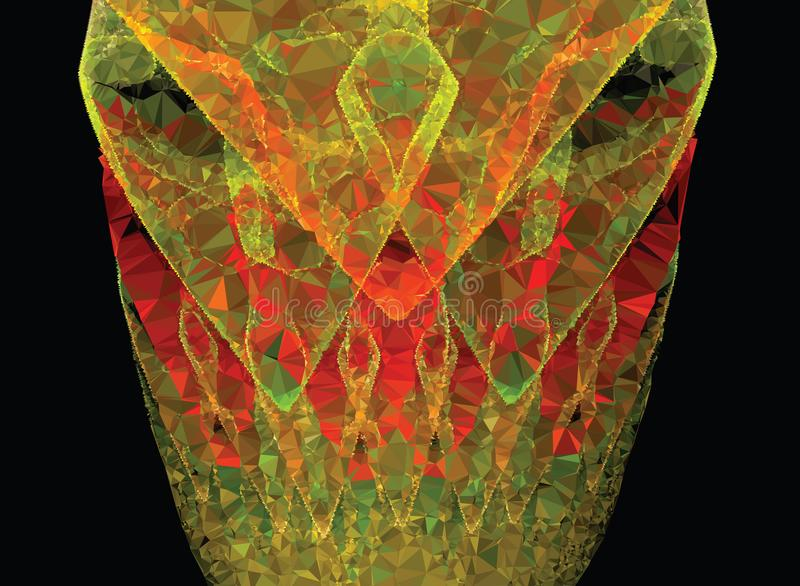Mooie abstracte vectorachtergrond stock afbeeldingen