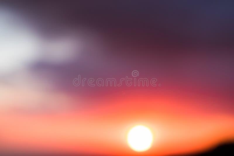 Mooie abstracte Zonsondergang in Libanon 2019 stock foto's