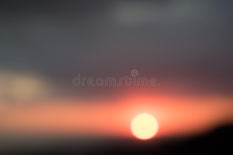 Mooie abstracte Zonsondergang in Libanon 2019 royalty-vrije stock afbeelding