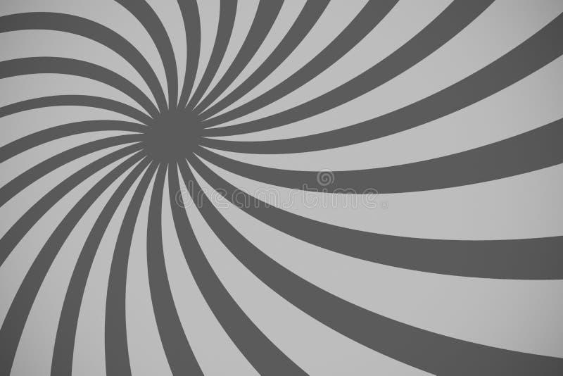 Mooie abstracte zwart-witte starburstachtergrond, royalty-vrije illustratie