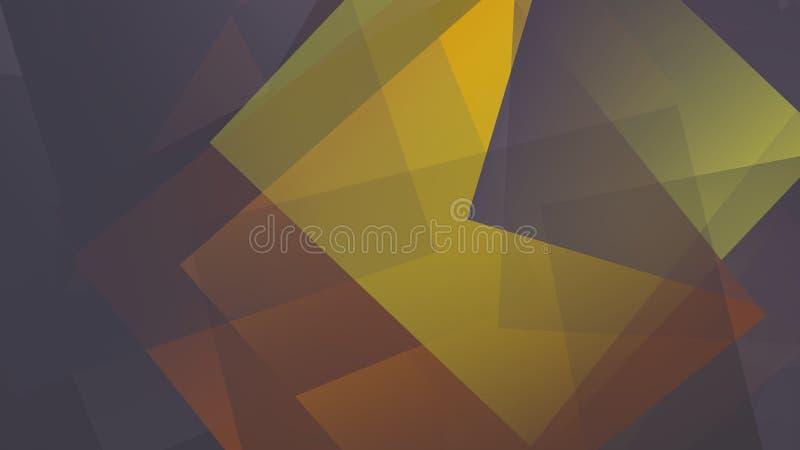 Mooie achtergrond die door multi-colored kubussen wordt gevormd stock illustratie