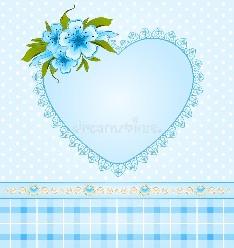 Mooie achtergrond met bloemen vector illustratie