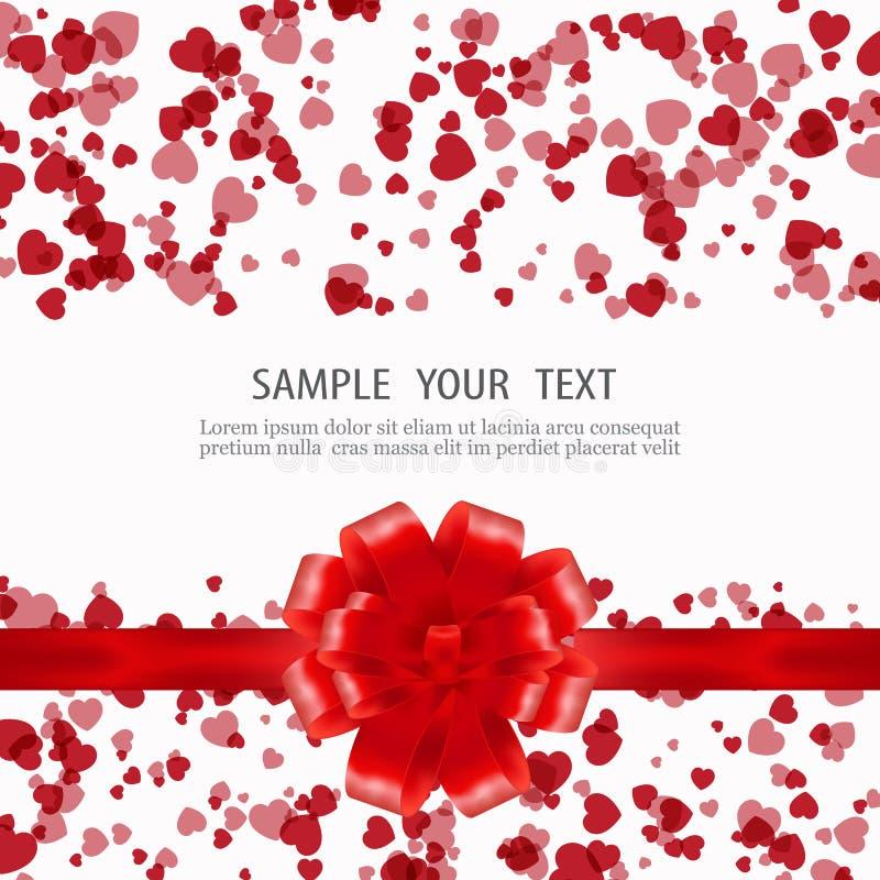 Mooie achtergrond met ornamenten en hart Plaats voor uw tekst royalty-vrije illustratie