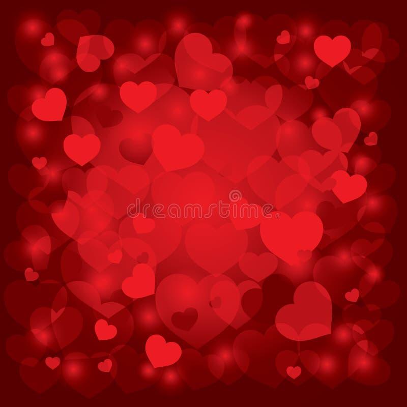 Mooie achtergrond op de Dag van de Valentijnskaart stock illustratie