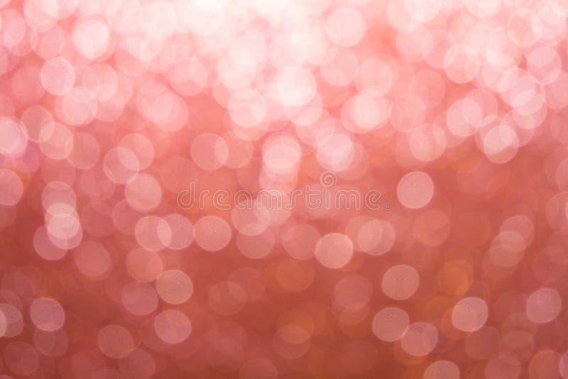 Mooie achtergrond op de gradiënt van de pastelkleurtoon met abstract bokehlicht Gevoelige roze achtergrond stock foto