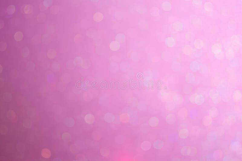 Mooie achtergrond op de gradiënt van de pastelkleurtoon met abstract bokehlicht Gevoelige roze achtergrond royalty-vrije stock afbeelding