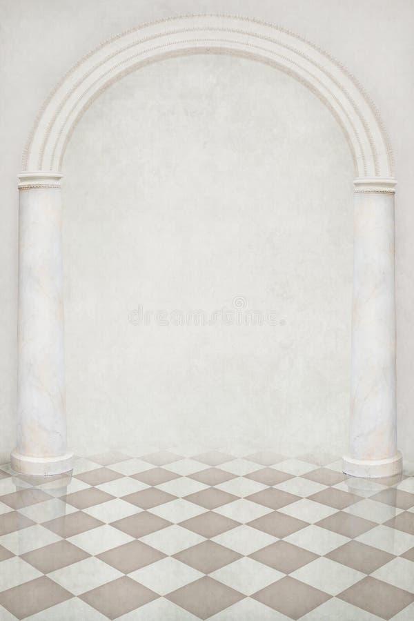 Mooie achtergrond van pijlers en een boog royalty-vrije illustratie