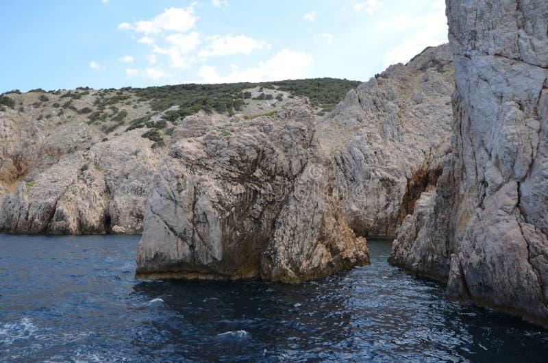 Mooie Adriatische Overzees in de Zomer van 2015 stock fotografie