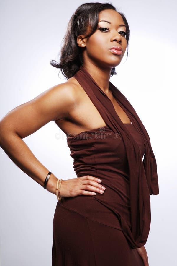 Mooie Afrikaans-Amerikaan girl.3. royalty-vrije stock fotografie