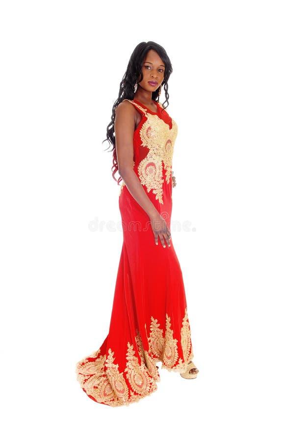 Mooie Afrikaanse Amerikaanse Vrouw royalty-vrije stock afbeeldingen