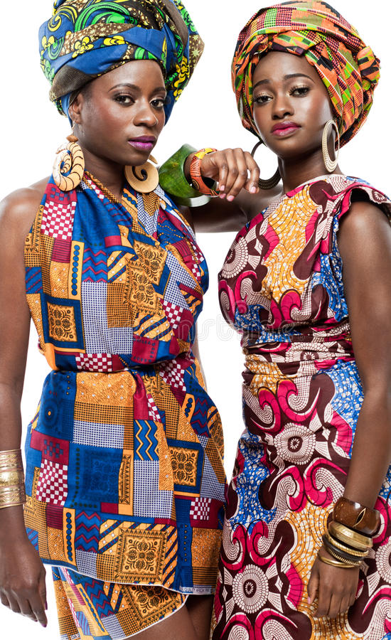 Mooie Afrikaanse mannequins. stock foto
