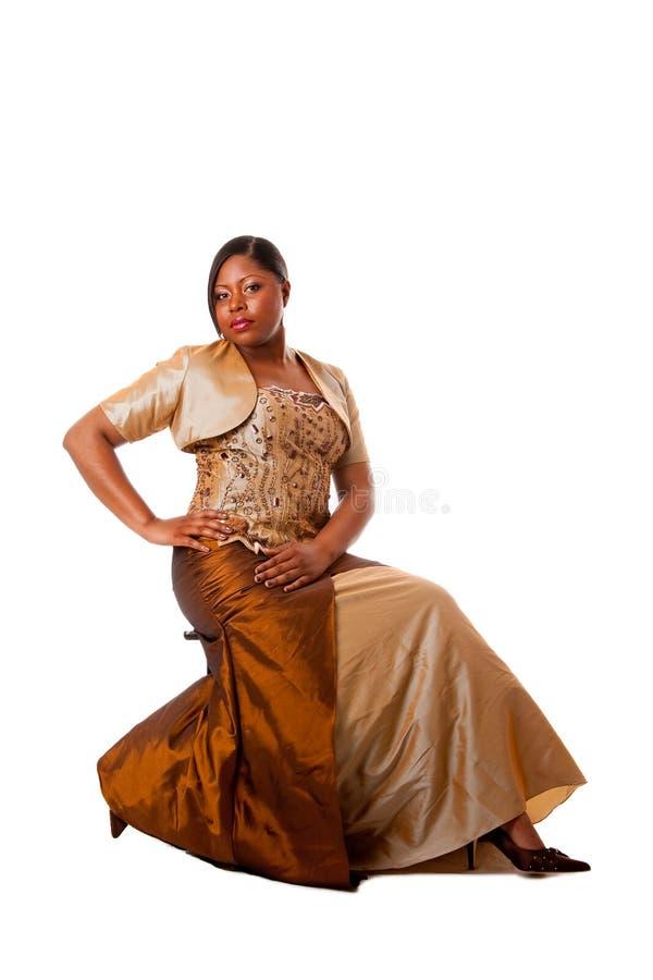 Mooie Afrikaanse vrouw stock foto