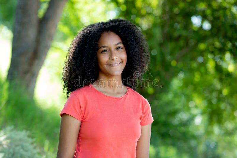 Mooie afro-tiener royalty-vrije stock afbeeldingen